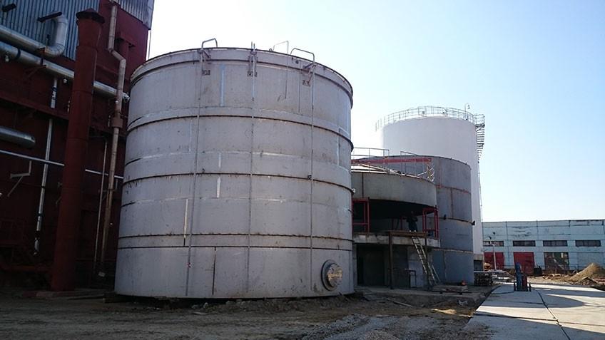 Завершен монтаж фундамента криогенного резервуара 500м3 для