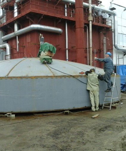Procurement and installation of a cryogenic vessel for Cryogenmash